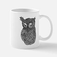 Zentangle Owl Mug