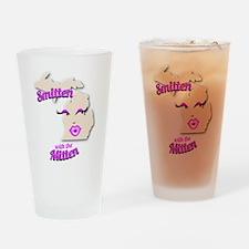 Smitten with the Mitten T-Shirt Drinking Glass