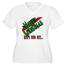 MERRY CHRISTMAS CARD- SILVER copy.png T-Shirt