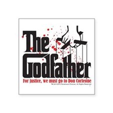 "The Godfather Square Sticker 3"" x 3"""