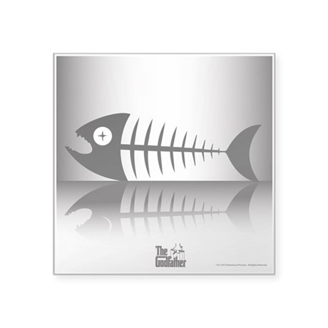 "Sleeping Fish Square Sticker 3"" x 3"""