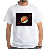 Saturn Mens White T-shirts