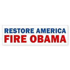 Restore America Fire Obama Bumper Stickers