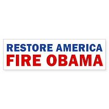 Restore America Fire Obama Car Sticker