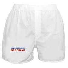 Restore America Fire Obama Boxer Shorts