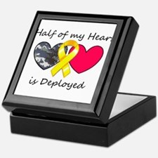 Half of my Heart Blue Camo Keepsake Box