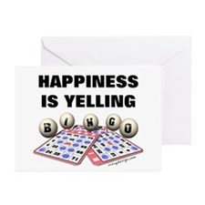 Happiness is Yelling Bingo! Greeting Cards (Packag