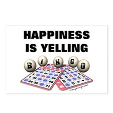 Happiness is Yelling Bingo! Postcards (Package of