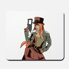 Steampunk Anime Girl Mousepad