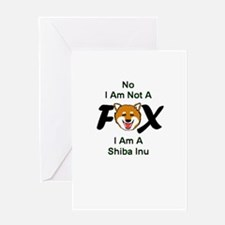 No I Am Not A Fox Greeting Card