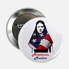 American Muslim Woman Button