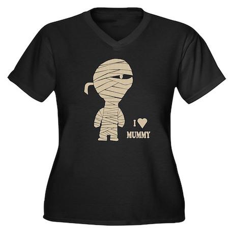 mummy final.png Women's Plus Size V-Neck Dark T-Sh