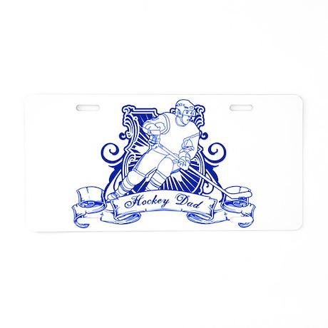 Hockey Dad Aluminum License Plate