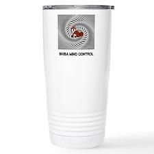 Shiba Mind Control Travel Coffee Mug
