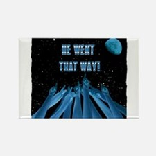 he went that way tshirt illustration Rectangle Mag