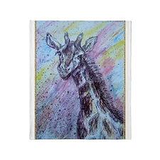 Giraffe! Colorful wildlife art! Throw Blanket