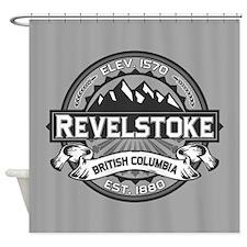 Revelstoke Grey Shower Curtain