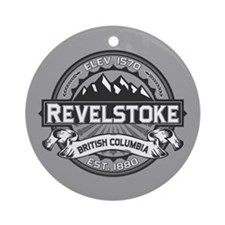 Revelstoke Grey Ornament (Round)