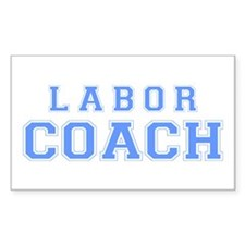 Labor Coach (blue) Rectangle Decal