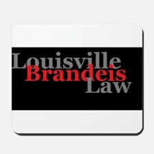 Louisville Brandeis Law Grey and Red on Black Mous