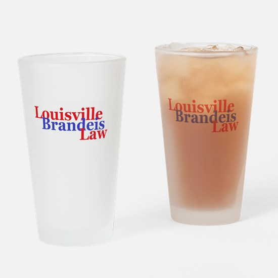 Louisville Brandeis Law Red and Blue Drinking Glas