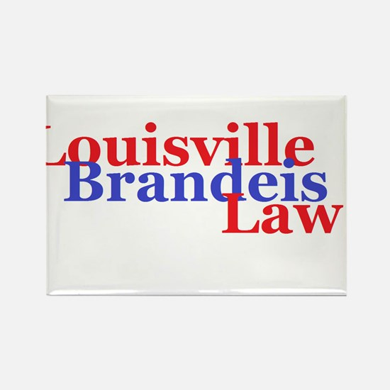 Louisville Brandeis Law Red and Blue Rectangle Mag