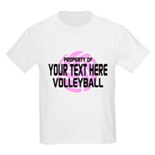 Property of Your Team Volleyball T-Shirt