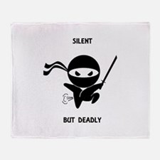 Silent but deadly Throw Blanket