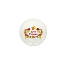 Give Thanks Mini Button (100 pack)