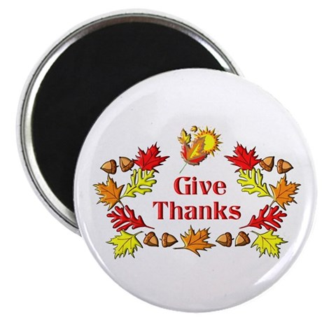"Give Thanks 2.25"" Magnet (10 pack)"