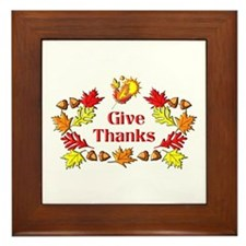 Give Thanks Framed Tile
