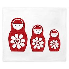 Riyah-Li Designs Nesting Dolls Three King Duvet