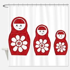 Riyah-Li Designs Nesting Dolls Three Shower Curtai