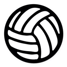 Volleyball Round Car Magnet