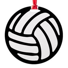 Volleyball Round Ornament