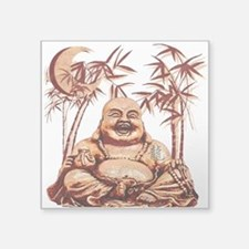 "Riyah-Li Designs Happy Buddha Square Sticker 3"" x"