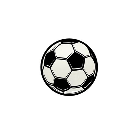 Soccer Ball Mini Button (10 pack)