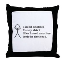 Hole in the Head Throw Pillow