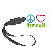 Peace Love Soccer Luggage Tag