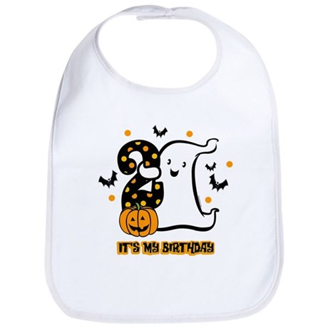 Little Ghost 2nd Birthday Bib