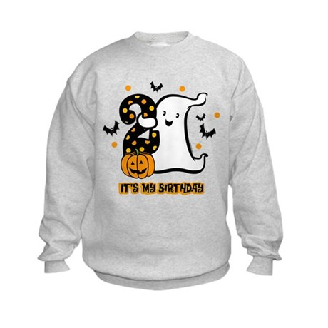 Little Ghost 2nd Birthday Kids Sweatshirt