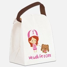 We Walk For A Cure Canvas Lunch Bag