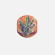 Saguaro cactus! Colorful southwest art! Mini Butto