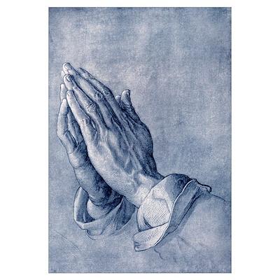 Praying hands, art by Durer Poster