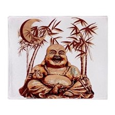 Riyah-Li Designs Happy Buddha Throw Blanket