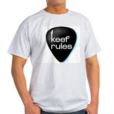 Keef Rules Guitar Pick - Ash Grey T-Shirt