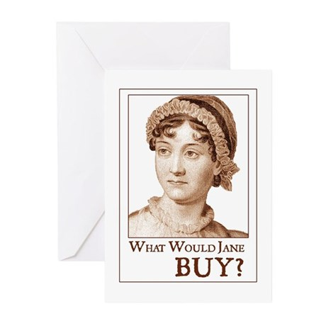 Jane Austen BUY Greeting Cards (Pk of 10)