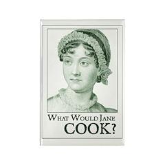 Jane Austen COOK Rectangle Magnet
