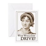 Jane Austen DRIVE Greeting Cards (Pk of 10)