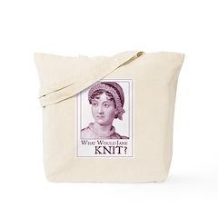 Jane Austen KNIT Tote Bag